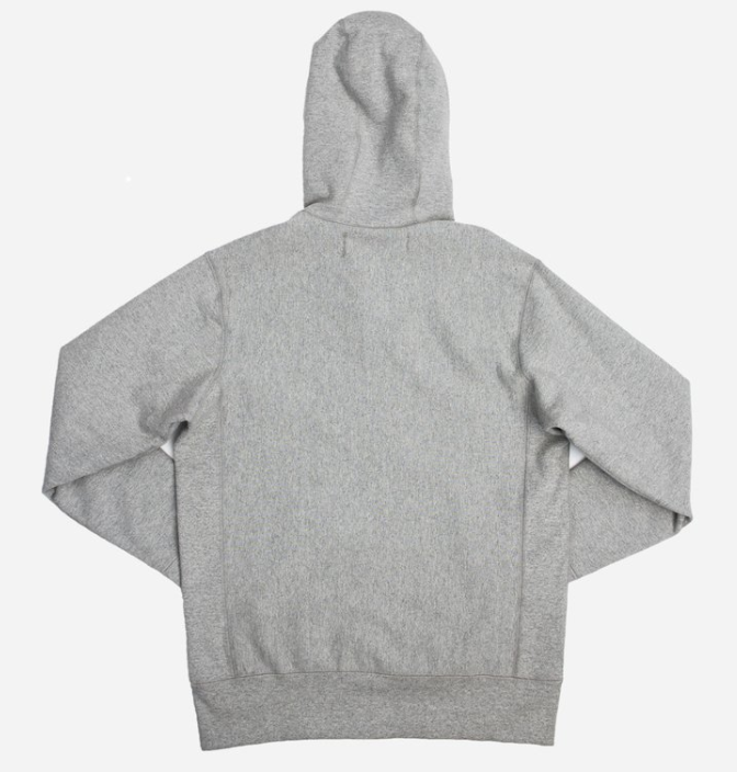 3sixteen heavyweight zip hoodie - grey