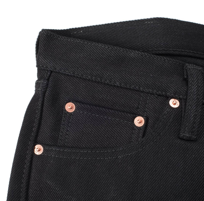 Superblack Fades To Grey 21oz Selvedge Denim Super Slim - IH-555-03