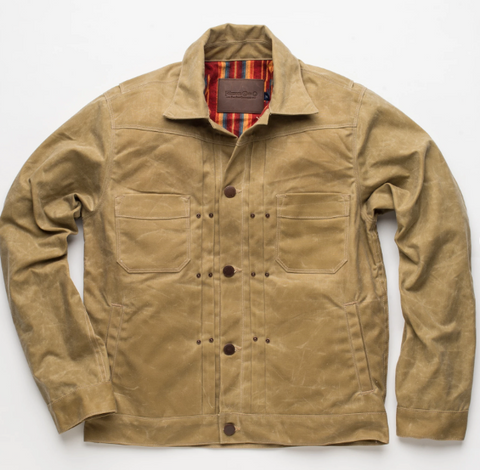 Freenote Cloth - Riders Jacket Waxed Canvas Tobacco