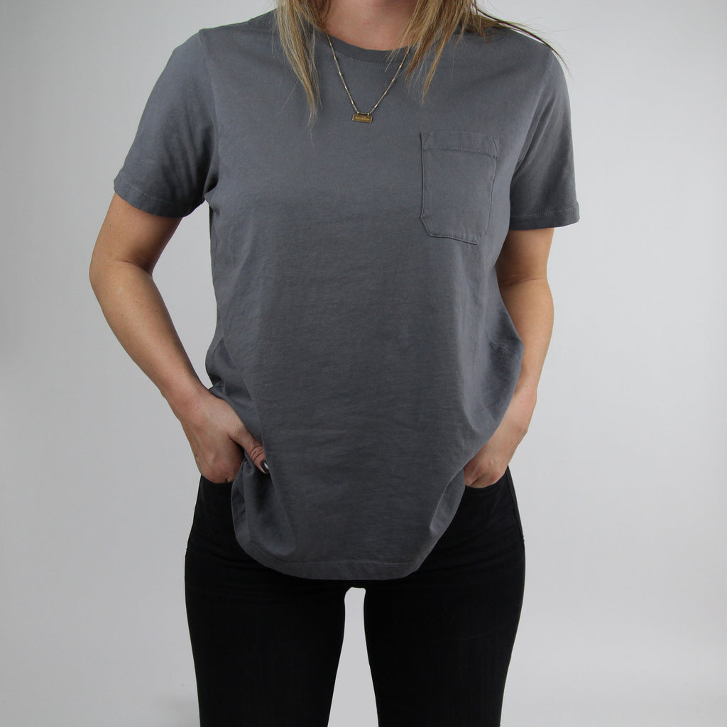 Basic Pocket Tee - Charcoal