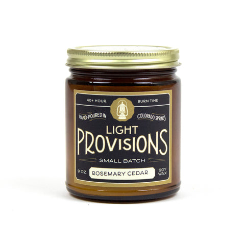 Light Provisions Candle - Rosemary Cedar