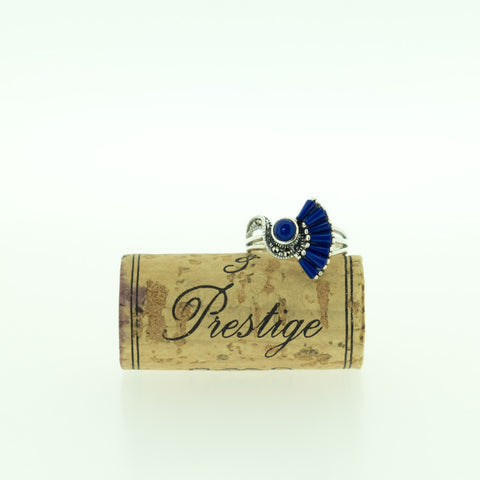 Blue Lapis Fan Shape Ring