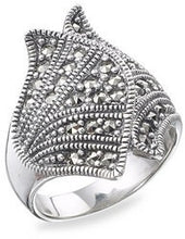 Load image into Gallery viewer, Marcasite Ring - Vintage Style Jewellery by Chicago Marcasite Jewellery