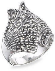 Marcasite Ring - Vintage Style Jewellery by Chicago Marcasite Jewellery