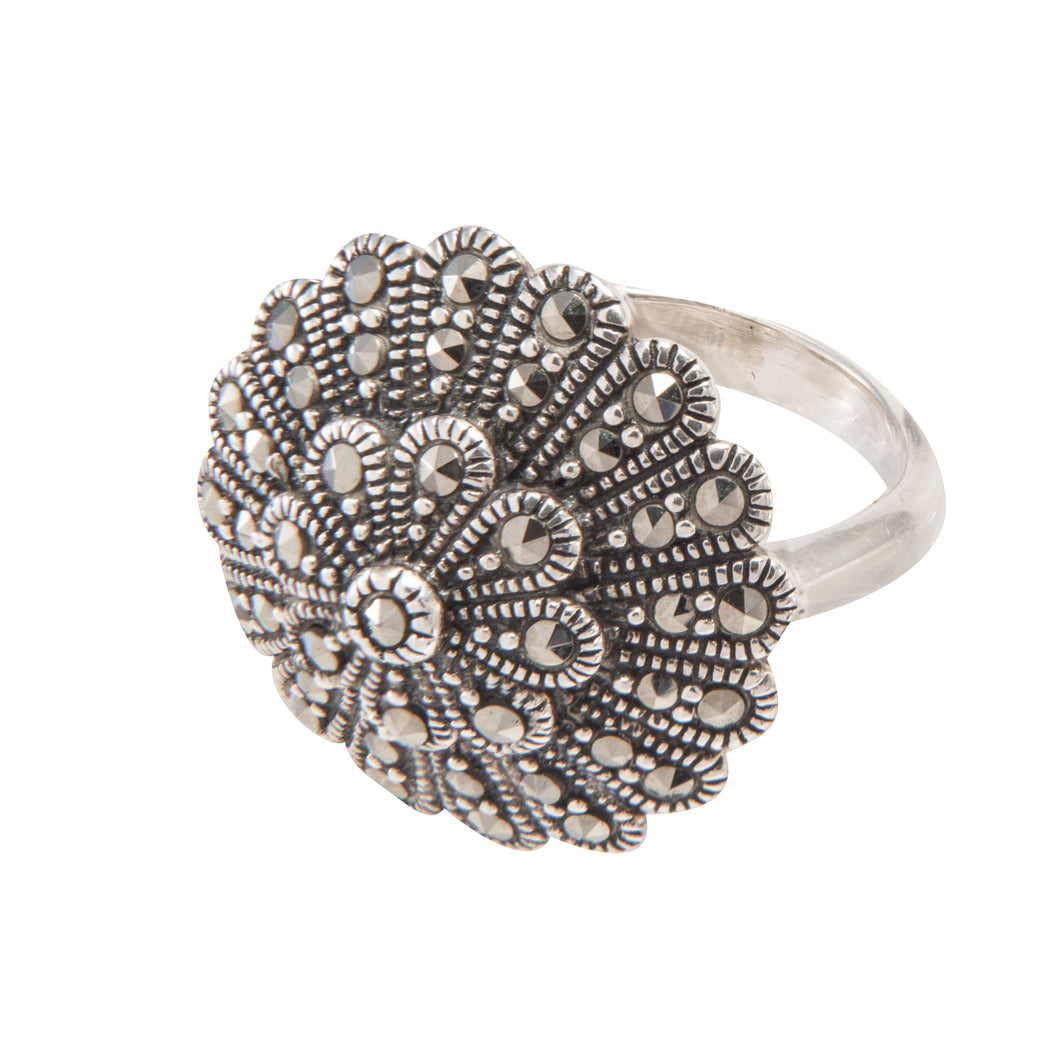 Silver Marcasite Ring - Vintage Style Jewellery by Chicago Marcasite Jewellery