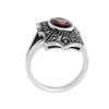 Red Garnet Marcasite Ring in Sterling Silver - Chicago Marcasite Jewellery