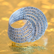 Load image into Gallery viewer, Marcasite Swirl Brooch/Pendant - Vintage Style Jewellery by Chicago Marcasite Jewellery