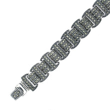 Load image into Gallery viewer, Marcasite Silver Bracelet - Vintage Style Jewellery by Chicago Marcasite Jewellery