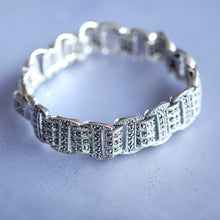 Load image into Gallery viewer, Marcasite Silver Bracelet