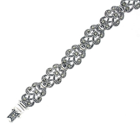Marcasite Silver Bracelet - Chicago Marcasite Jewellery