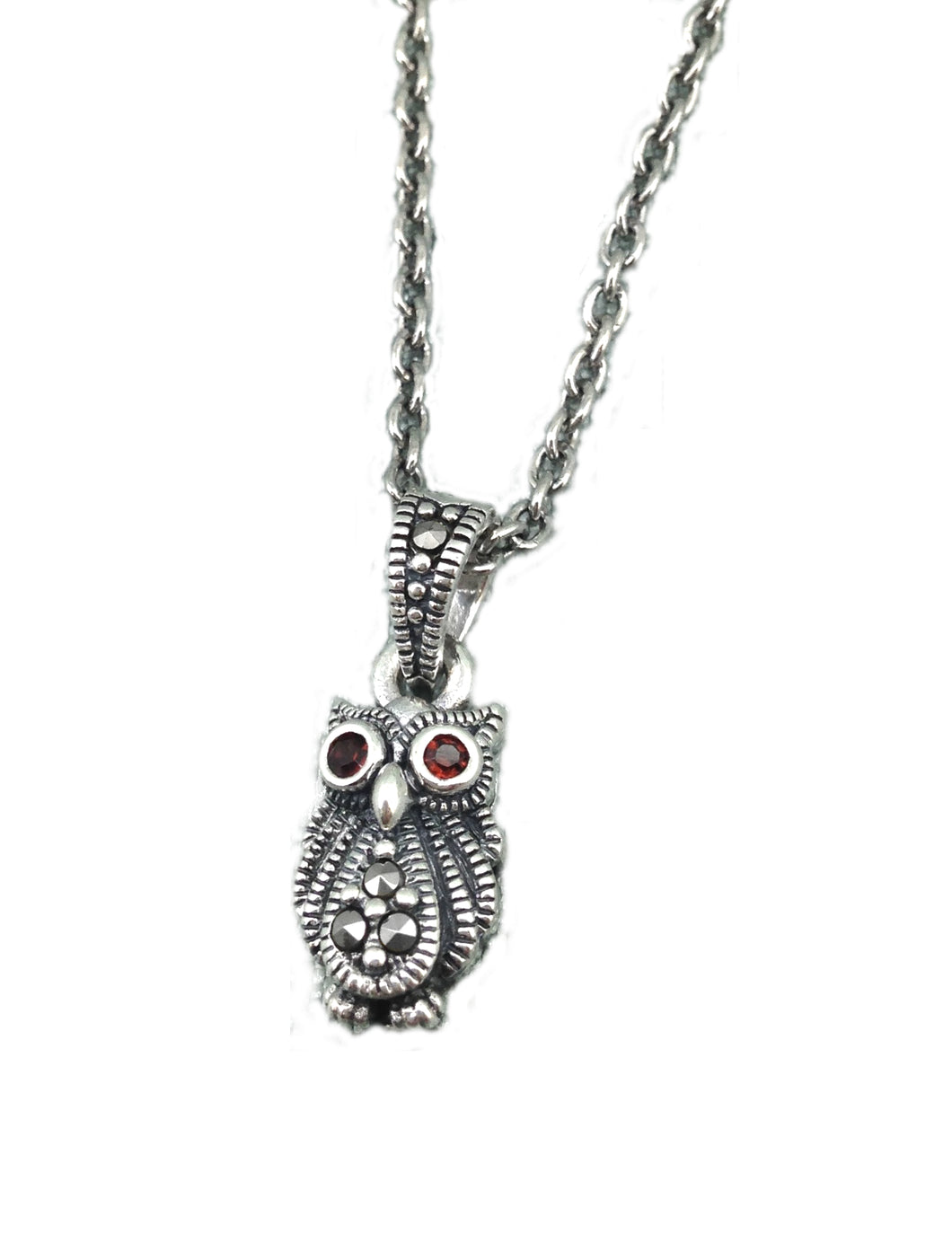 Marcasite Owl Pendant - Vintage Style Jewellery by Chicago Marcasite Jewellery
