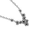 Black Onyx Marcasite Necklace - Chicago Marcasite Jewellery