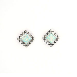 Opalite Marcasite Earrings - Vintage Style Jewellery by Chicago Marcasite Jewellery
