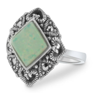 Opalite Ring - Vintage Style Jewellery by Chicago Marcasite Jewellery