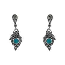 Load image into Gallery viewer, Turquoise Earrings - Vintage Style Jewellery by Chicago Marcasite Jewellery