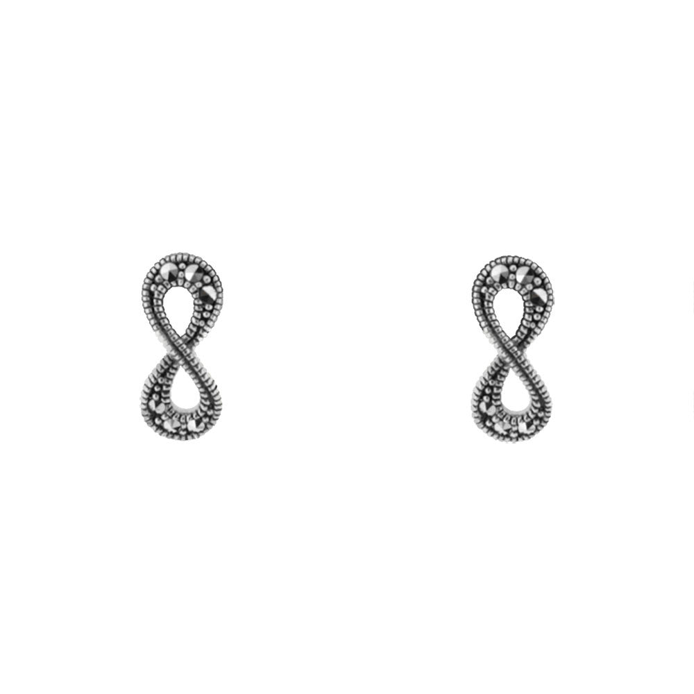 Infinity Earrings - Vintage Style Jewellery by Chicago Marcasite Jewellery