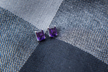 Load image into Gallery viewer, Purple Amethyst Stud Earrings - Vintage Style Jewellery by Chicago Marcasite Jewellery