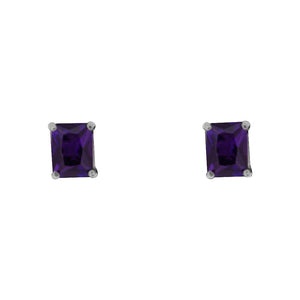 Purple Amethyst Stud Earrings - Vintage Style Jewellery by Chicago Marcasite Jewellery