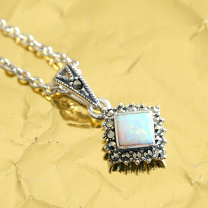 Opalite Necklace - Vintage Style Jewellery by Chicago Marcasite Jewellery