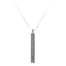 Load image into Gallery viewer, Drop Bar Marcasite Pendant - Vintage Style Jewellery by Chicago Marcasite Jewellery