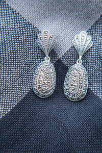 Silver Marcasite earrings - Vintage Style Jewellery by Chicago Marcasite Jewellery