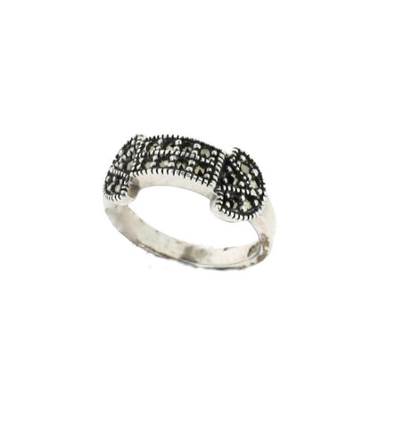 AB91 Silver Marcasite Ring