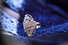 Load image into Gallery viewer, Silver Art Deco Style Ring - Vintage Style Jewellery by Chicago Marcasite Jewellery