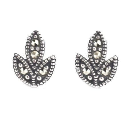 Silver Marcasite Earrings - Chicago Marcasite Jewellery