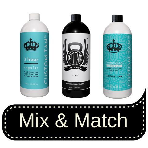 Spray Tanning Starter Kit - Includes Pink or Black Machine, Tent and Free Litre of Solution