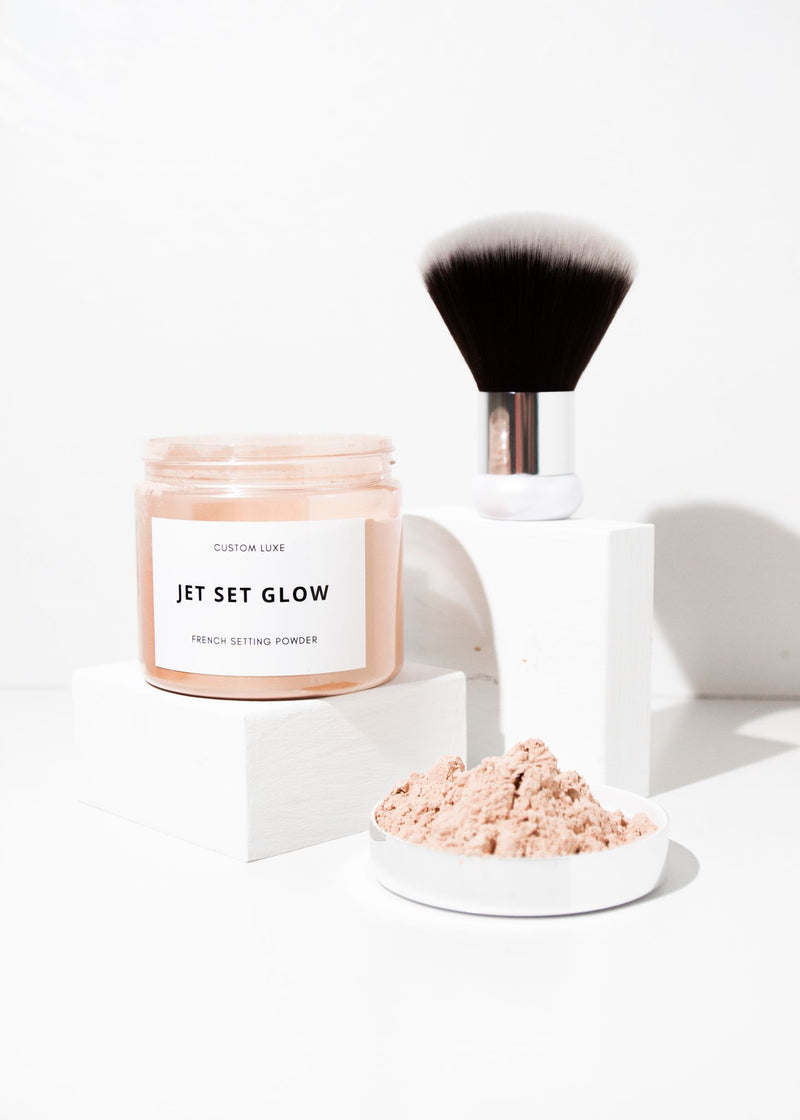 Jet Set Glow - Tan Setting Powder & Brush Duo