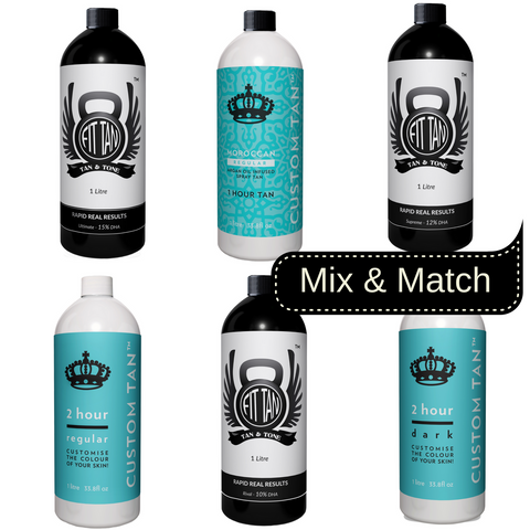 Complete Spray Tan Solution Sample Pack - 1100ml (11 x 100ml)