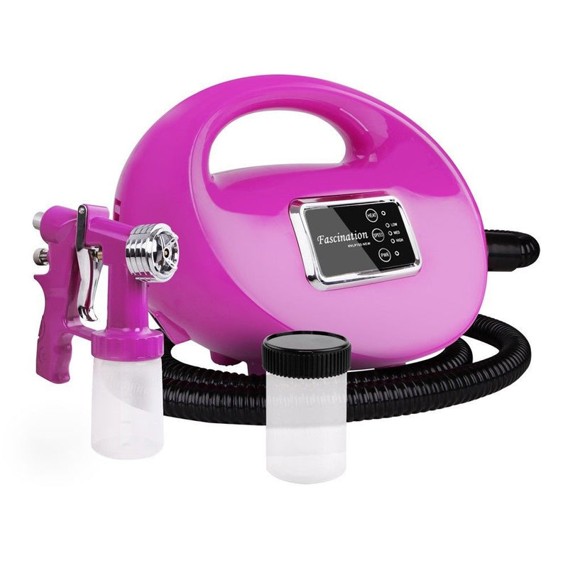 Spray Tanning Starter Kit - Includes Pink or Black Machine, Tent and Free Litre of Solution - Custom Tan - 10