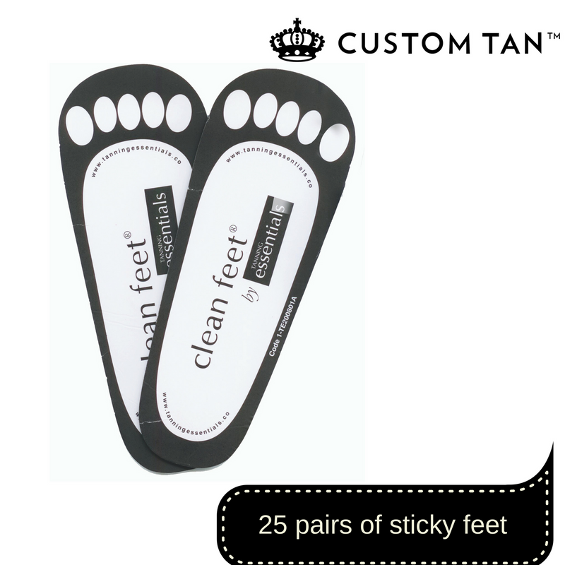 Disposable Sticky Feet - 25 Pairs - Custom Tan - 1