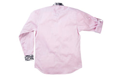 Pink Print Button Front Shirt