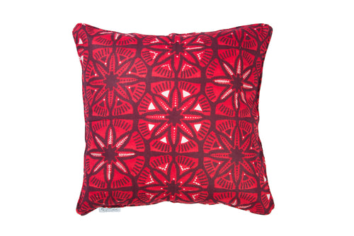 Red wax print cushion cover