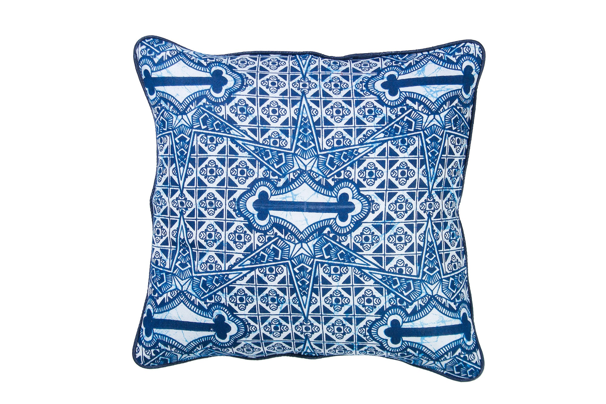 Indigo Wax Print Cushion Cover