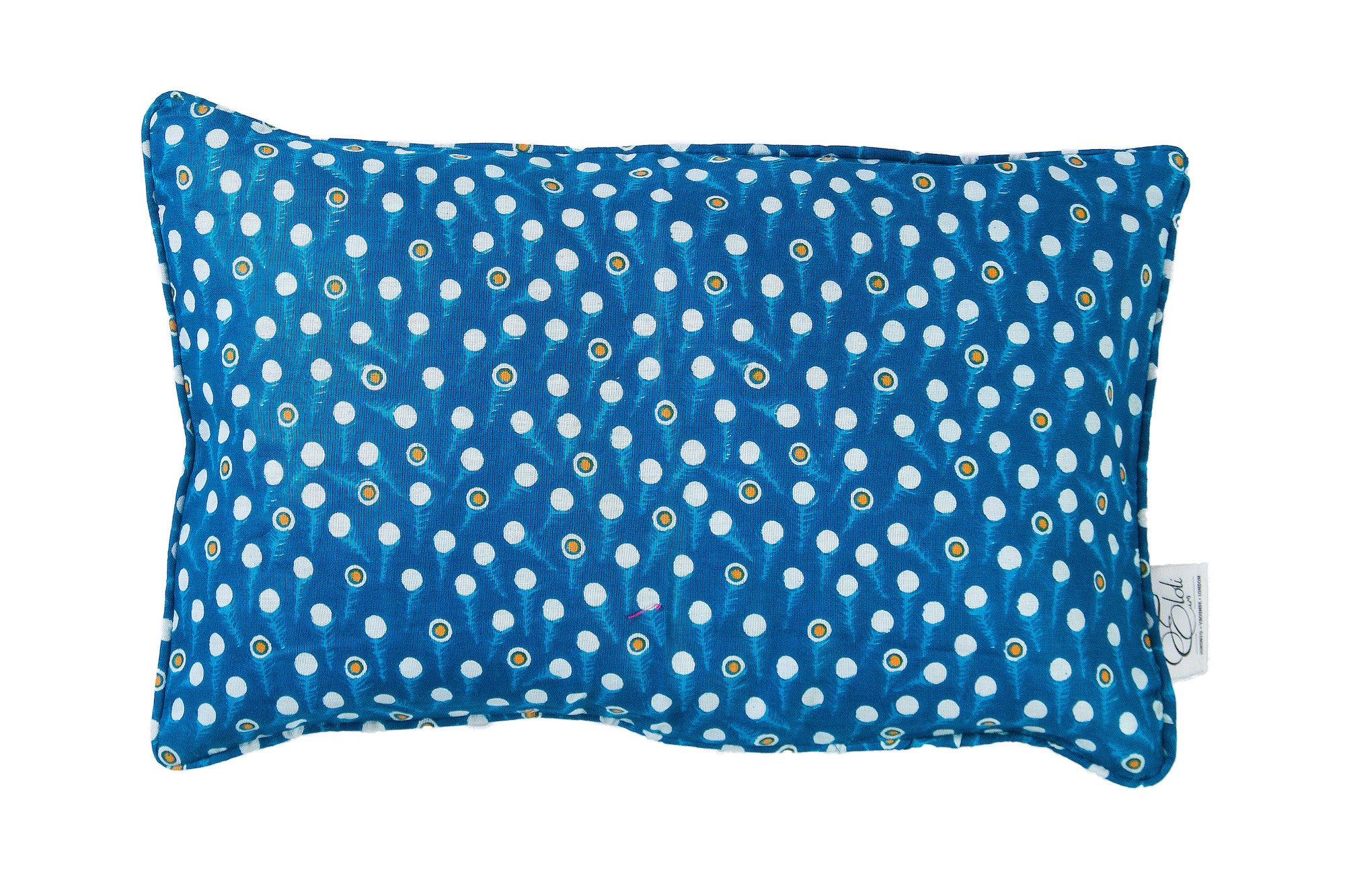 Blue Wax print rectangle bolster Cushion Cover