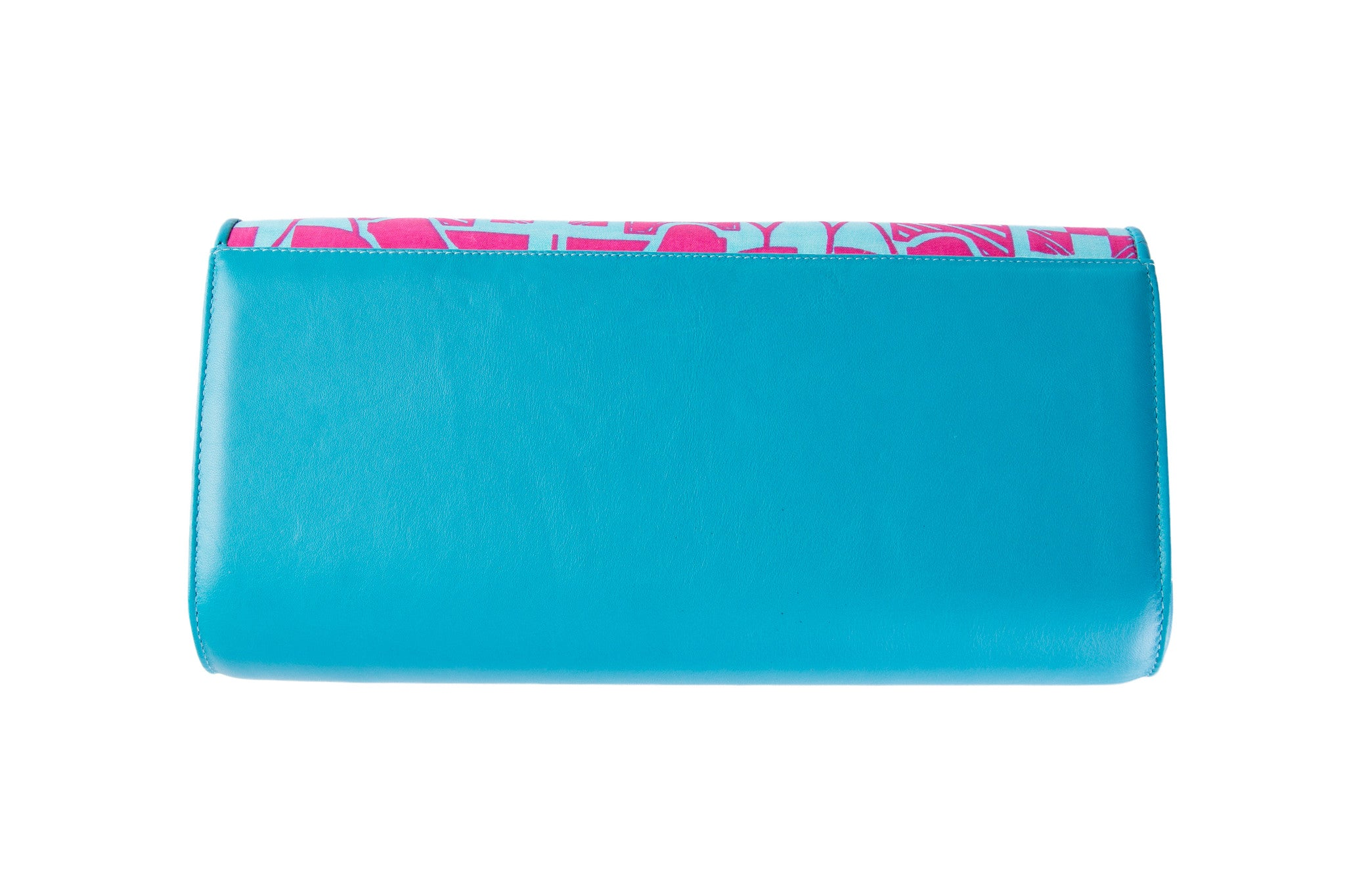 Fuschia dreams leather clutch
