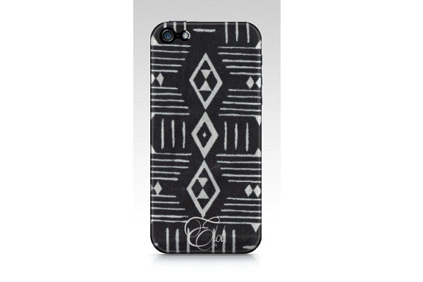 Black and white graphic print phonecase