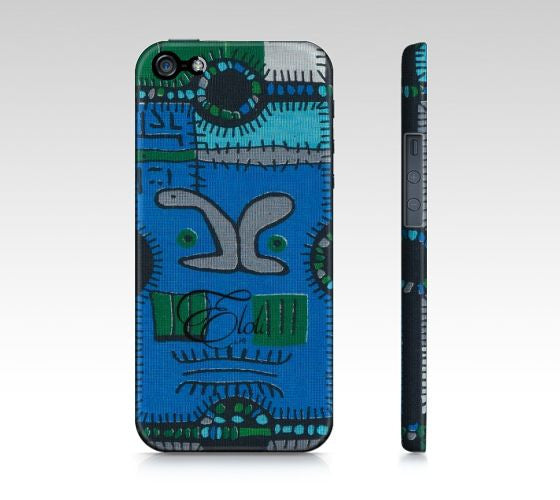 Blue jigsaw African print Iphone case