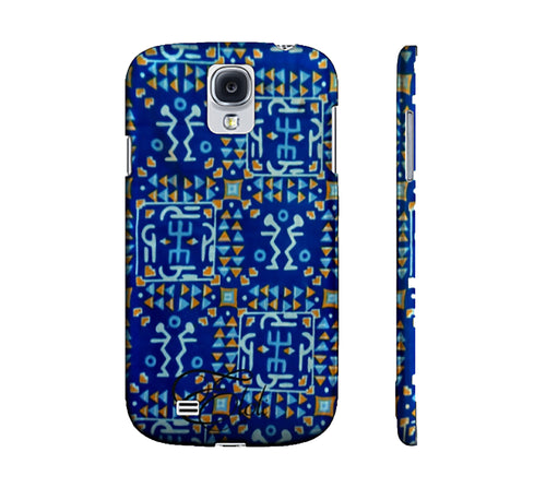 Blue Ashanti African print phone case iphone | Samsung Galaxy