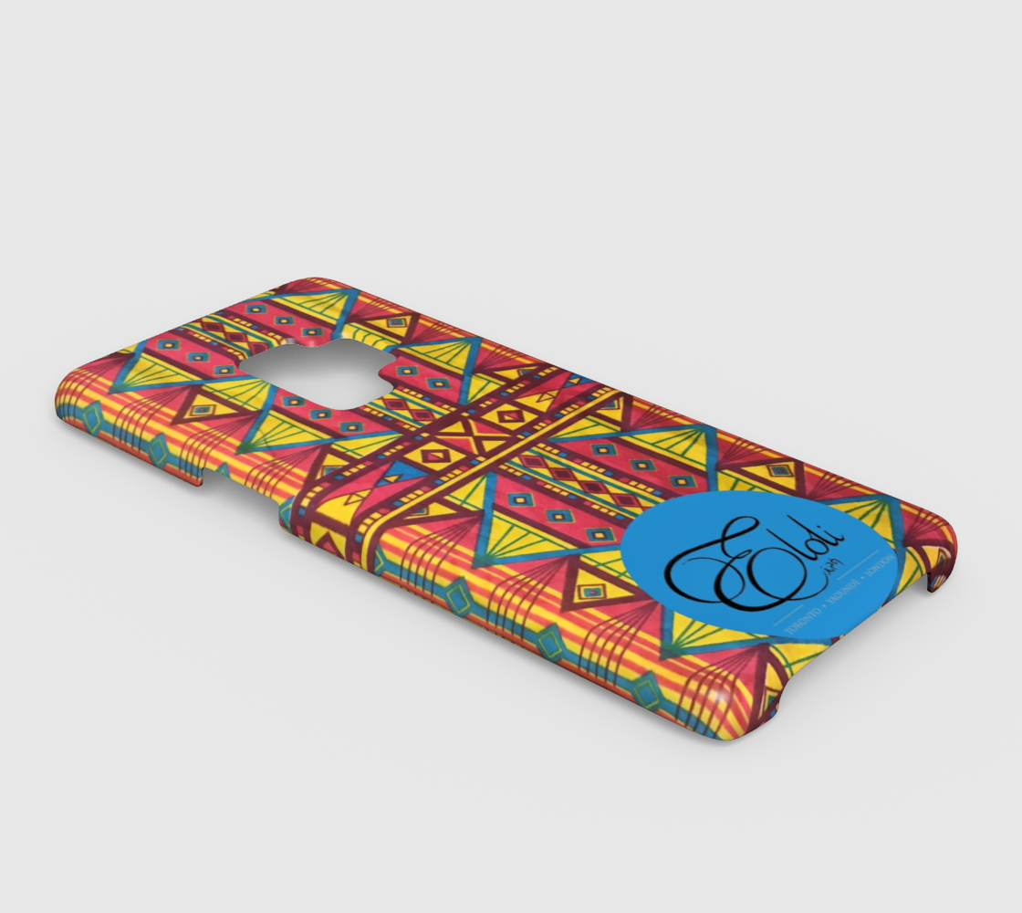 Yellow & Pink Geo African print phone case iPhone | Samsung Galaxy