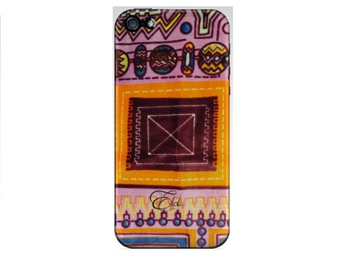 Purple delight African print Iphone case