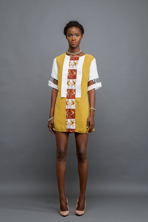 Shift dress - mustard yellow