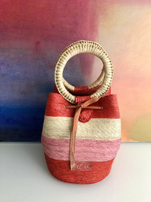 woven summer bucket purse