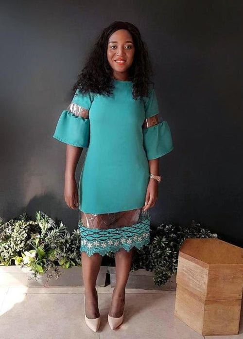 Miss Tutu Dress - Teal