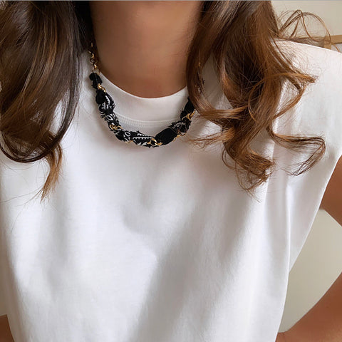 Collier A.B. PARIS X IDEE2LOOK / Noir