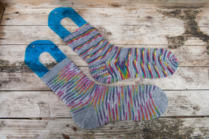 Rainbow Bridges Socks - PDF Pattern Download
