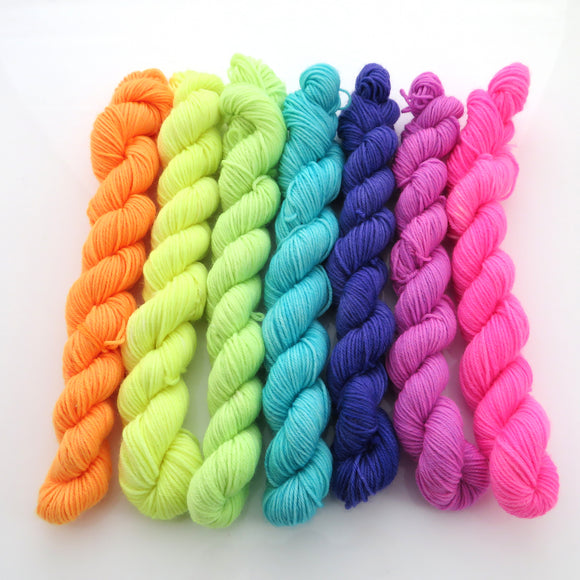 Bright AF -  Colourful Smooth Sock Kitten Set