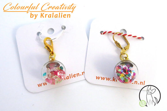 Sparkle ball stitch markers
